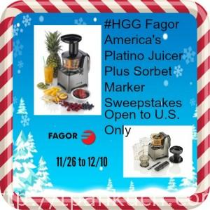 Platino Slow Juicer Plus Sorbet Maker Sweepstakes 12/10 US ...