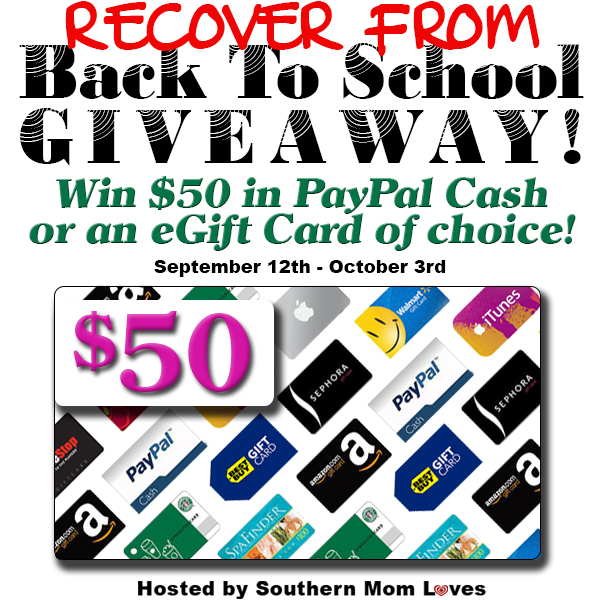 50 recover from back to school giveaway ww 10 03