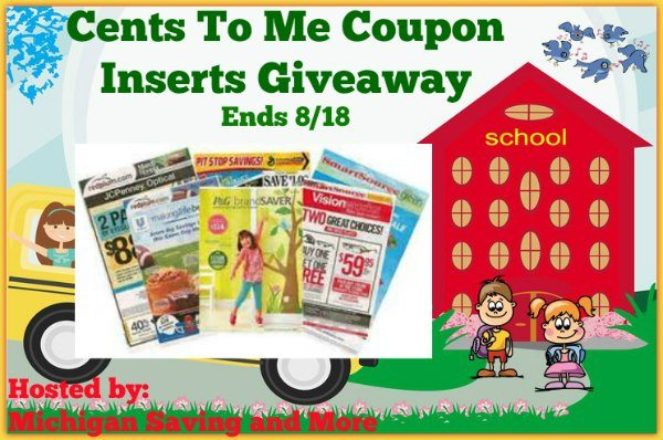 Cents To Me Coupon Inserts Giveaway 8/18