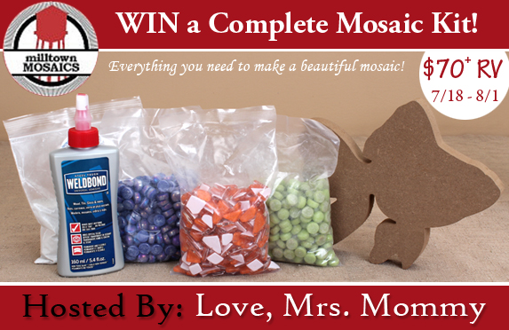 Complete Mosaic Craft Kit Giveaway 8/1