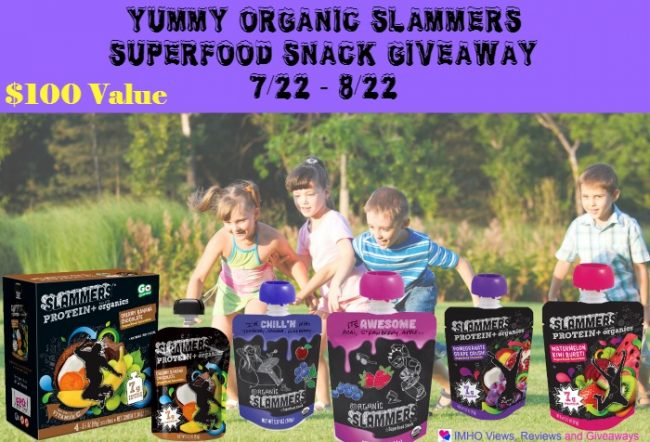 Slammers SuperFood Snack Giveaway 8/22