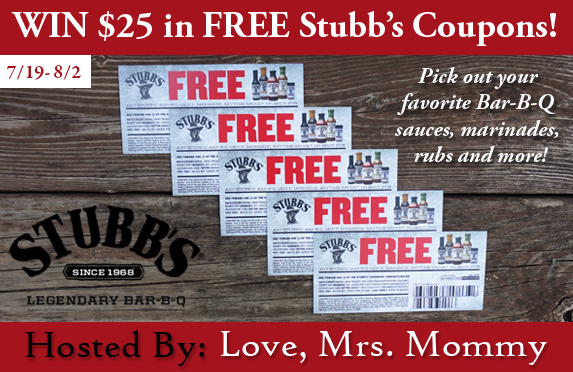 $25 in FREE Stubb's BBQ Coupons Giveaway!