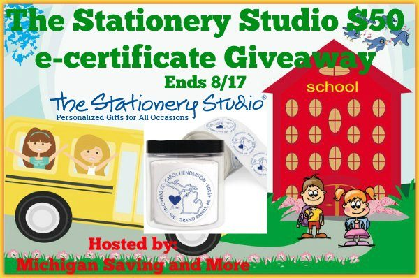 The Stationery Studio $50 e-certificate Giveaway 8/17