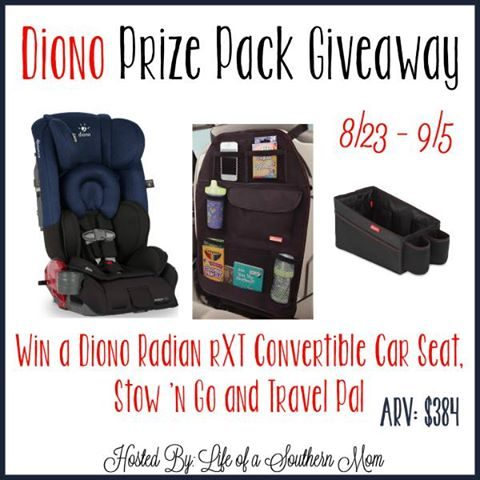 Diono Car Seat Prize Pack Giveaway! 9/5