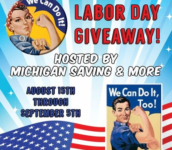 Labor Day Giveaway!  9/5