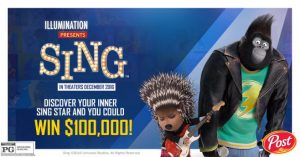 #SingMovie and Golden Crisp Sweepstakes! $100,000 PRIZE