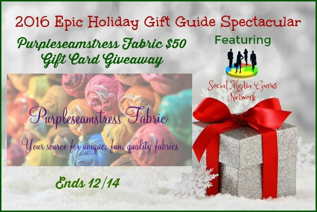 Enter 4 a Chance to Win the 2016 Holiday Purple Seamstress Fabric $50 Gift Card Giveaway #SMGN