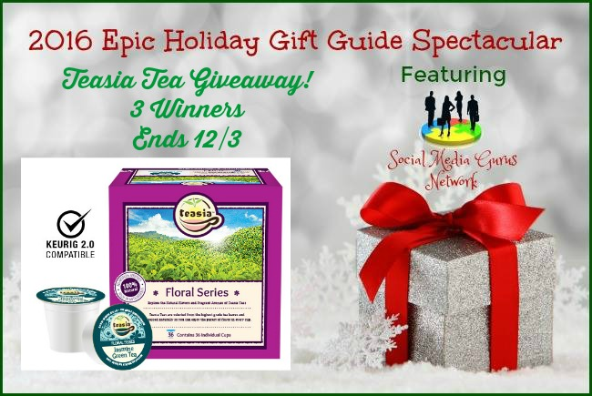 Enter 4 a Chance to Win the 2016 Holiday Teasia Tea Giveaway @teasiateas @las930 #SMGN