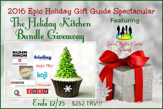 The Holiday Kitchen Bundle Giveaway ($252 TRV) Ends 12/25