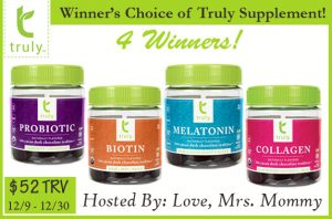 Truly Supplements 4 Winner Giveaway!