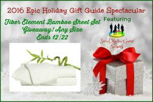 Fiber Element Bamboo Sheets Giveaway! 12/22