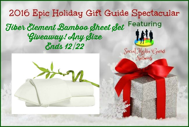 Enter 4 a Chance to Win the 2016 Holiday Fiber Element Bamboo Sheets Giveaway @las930 #SMGN