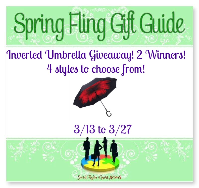 2017 Spring Fling Gift Guide Coffee Inverted Umbrella #Giveaway Ends 3/27 @SMGurusNetwork