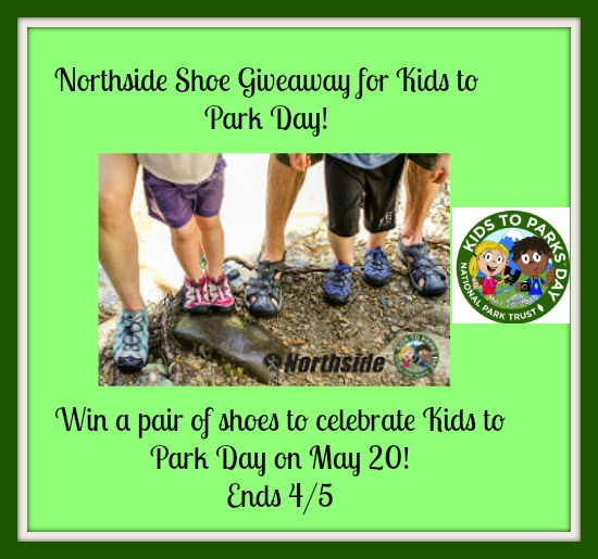 Enter the Northside Shoe Giveaway for Kids to Park Day. Ends 4/5
