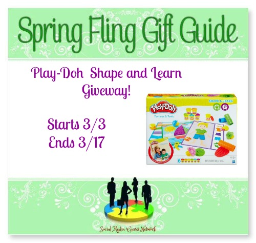 Enter The Spring Fling Play-Doh Shape & Learn Giveaway. Ends 3/17