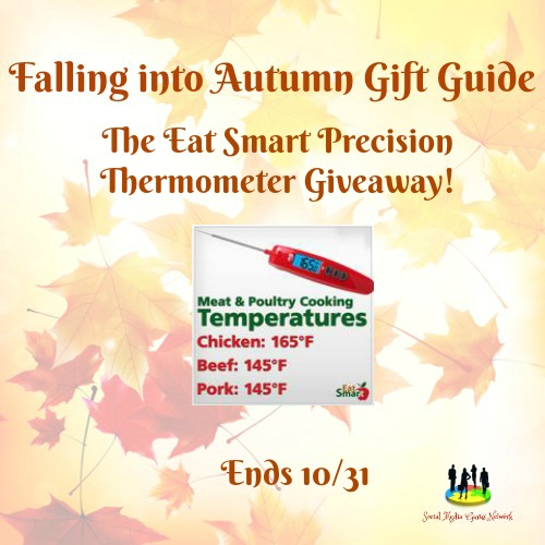 Enter the EatSmart Precision Thermometer Giveaway. Ends 10/31